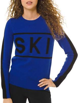 MICHAEL Michael Kors Ski & Logo-Letter Graphic Sweater