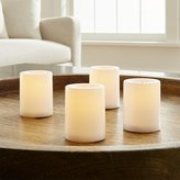 Crate & Barrel Set of 4 Flameless White Votive Candles with Timer