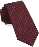 The Tie Bar Burgundy Sparkler Medallions Tie