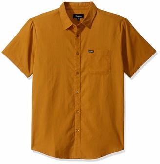Brixton Men's Charter Oxford Standard FIT Short Sleeve Woven Shirt