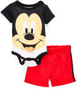 Children's Apparel Network Mickey Mouse Bodysuit & Red Shorts - Infant