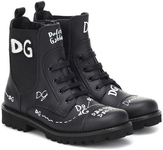Dolce & Gabbana Kids Leather ankle boots
