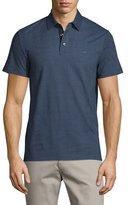 Michael Kors Dot-Print Short-Sleeve Polo Shirt, Midnight