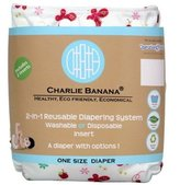 Charlie Banana 2-in-1 Reusable Diaper One Size-Butterfly by