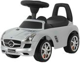 Mercedes Benz Licensed SLS AMG Push Car in Silver