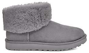 UGG Women's Classic Mini Fluff Sheepskin-Lined Suede Boots