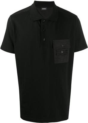 Diesel Pique Twill Polo Shirt