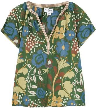 Velvet by Graham & Spencer Tullia Printed Cotton Blouse