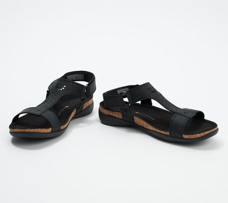 Keen Leather T-Strap Sandals - Kaci Ana