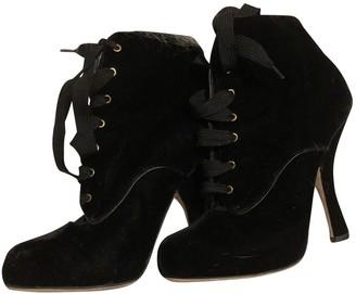 Dolce & Gabbana Black Velvet Boots