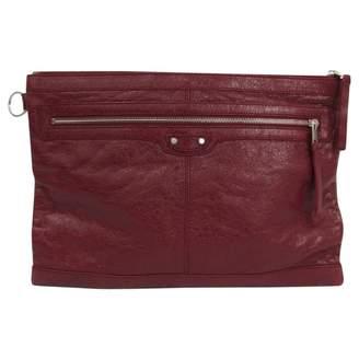 Balenciaga Burgundy Leather Clutch bags