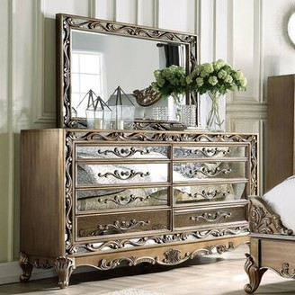 Boyden 8 Drawer Double Dresser with Mirror A&J Homes Studio