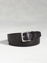 John Varvatos Leather Double Perforated Belt