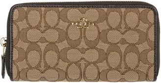 Coach Signature Zip Around wallet
