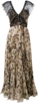 Valentino Mariposa garden print maxi dress - women - Cotton/Polyamide/Viscose - 40