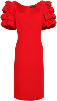 Badgley Mischka Tiered Cady Dress