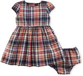 Ralph Lauren Madras Fit-and-Flare Check Dress w/ Bloomers, Size 9-24 Months
