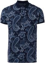Etro paisley print, short sleeve polo shirt