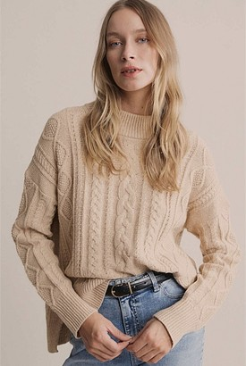 Witchery High Neck Cable Knit