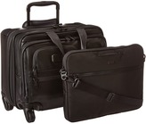 Tumi Alpha 2 - 4 Wheeled Deluxe Leather Brief with Laptop Case Luggage