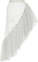 Rodarte Tulle Asymmetric Ruffle Skirt