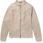 Loro Piana - Slim-fit Suede Blouson Jacket