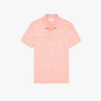 Lacoste Men's Slim Fit Multicolor Badge Polo