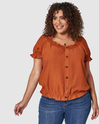 Something 4 Olivia Vicky Button Detail Top