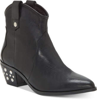 INC International Concepts Inc Latisha Western Studded Leather Booties, Women Shoes