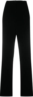 Giorgio Armani Velvet Straight-Leg Trousers