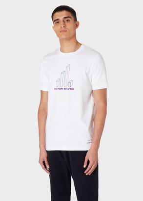 Paul Smith x Factory Records - White 'Big Graph' Print T-Shirt