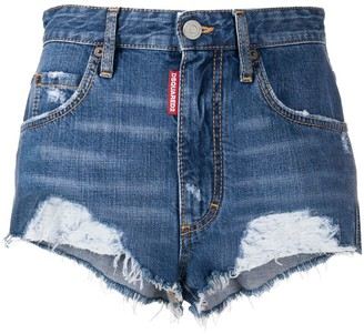 DSQUARED2 Distressed Hem Shorts