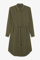 Monki Long-sleeve shirt dress