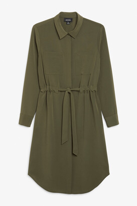 Monki Long-sleeve shirt dress