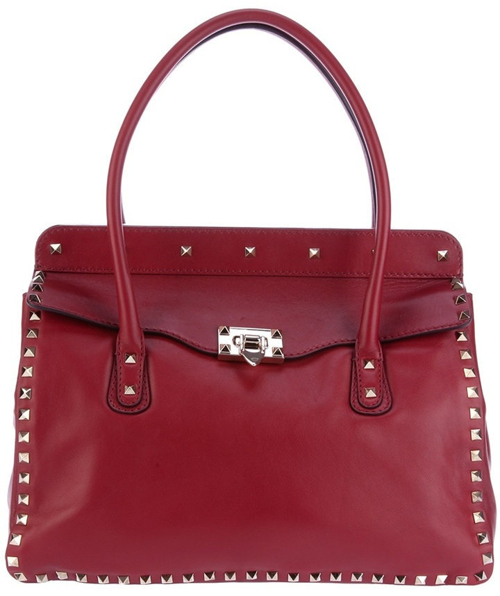 Valentino Garavani studded leather tote