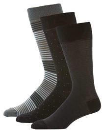 Neiman Marcus Men's 3-Pack Fancy Socks