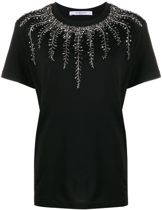 Givenchy embellished neck T-shirt