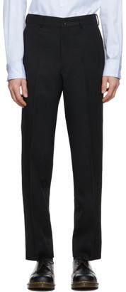 Comme des Garçons Homme Deux Black Wool Yarn-Dyed Trousers