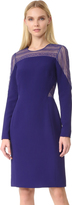 J. Mendel Round Neck Long Sleeve Dress