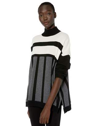 BCBGMAXAZRIA Women's Mock Neck Tunic Sweater