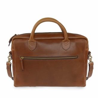 Vida Vida Luxe Tan Leather Laptop Bag