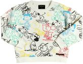 Finger In The Nose Snoopy Printed Cotton Sweatshirt