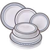 Silver Spoons ELEGANT PLASTIC DINNERWARE SET Heavy Duty Plastic Plates Elegant Fine China Look Includes: 20 Dinner Plates