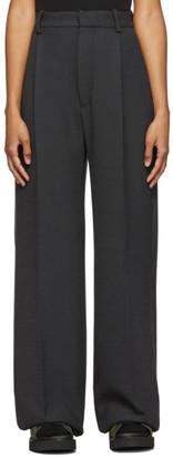 Plan C Grey Wide-Leg Trousers