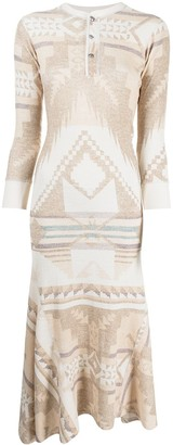 Polo Ralph Lauren Geometric-Print Midi Dress