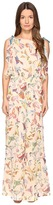 RED Valentino Hummingbird Print Silk Creponne Jumpsuit Women's Jumpsuit & Rompers One Piece