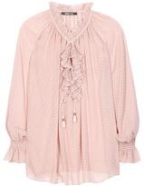 Roberto Cavalli Silk fil coupé blouse