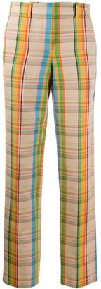 Loewe Checked High-Waist Trousers