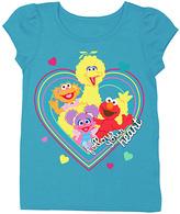 Freeze Aqua Sesame Street 'Follow Your Heart' Tee - Toddler & Girls