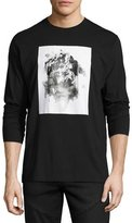 Public School Long-Sleeve Graphic T-Shirt, Black